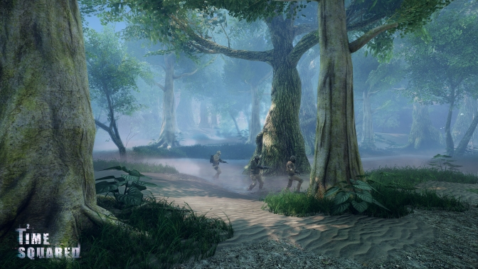 Time Squared's jungle is a great place to hide but also to be hunted